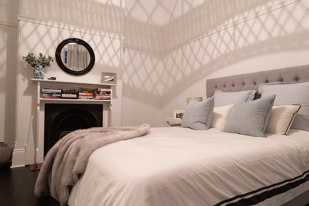 Bedroom. Interior design project Lang street Mosman