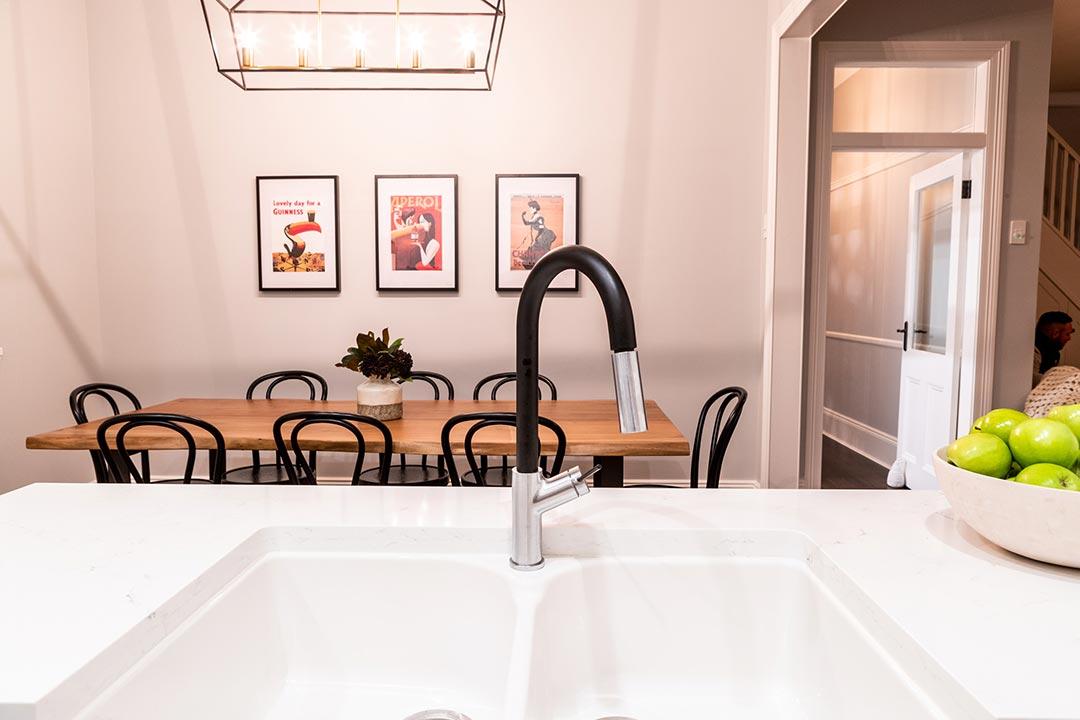 Kitchen Sink. Interior design project Lang street Mosman