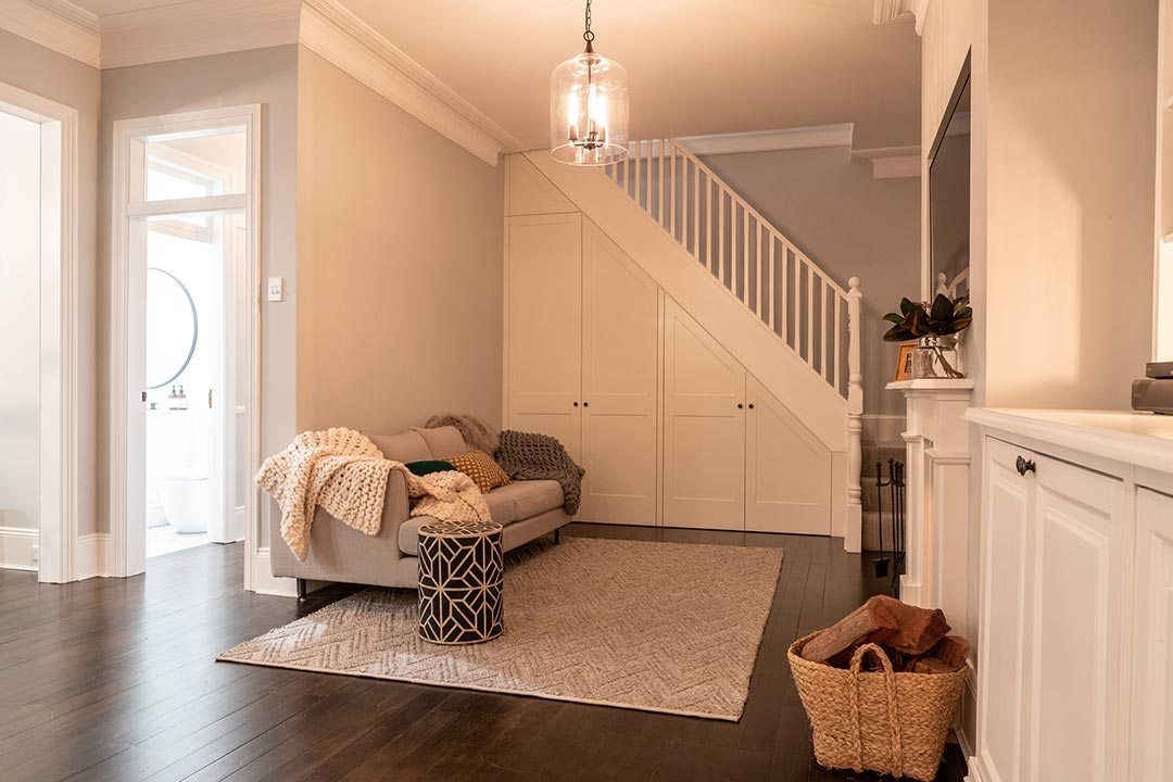 Living Room. Interior design project Lang street Mosman